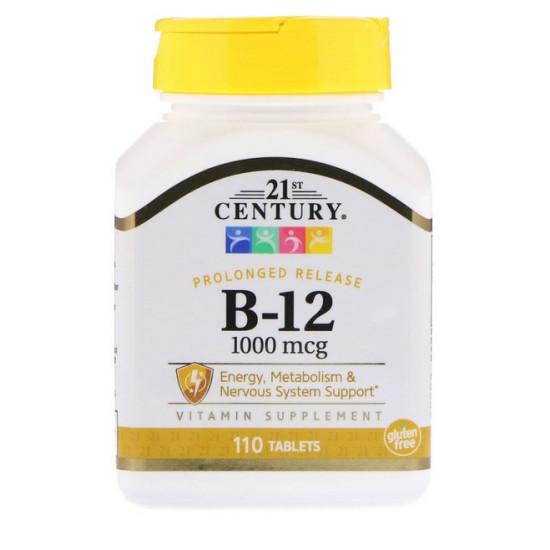 B12-vitamin 1000mcg - 110db tabletta - 21st. Century