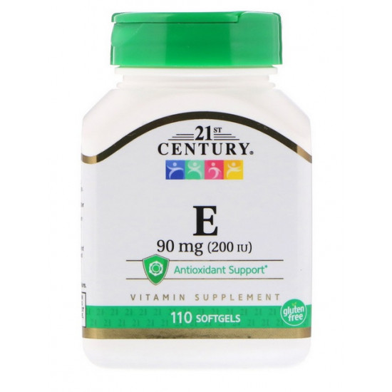 E vitamin 90mg - 110db softgél - 21st. Century
