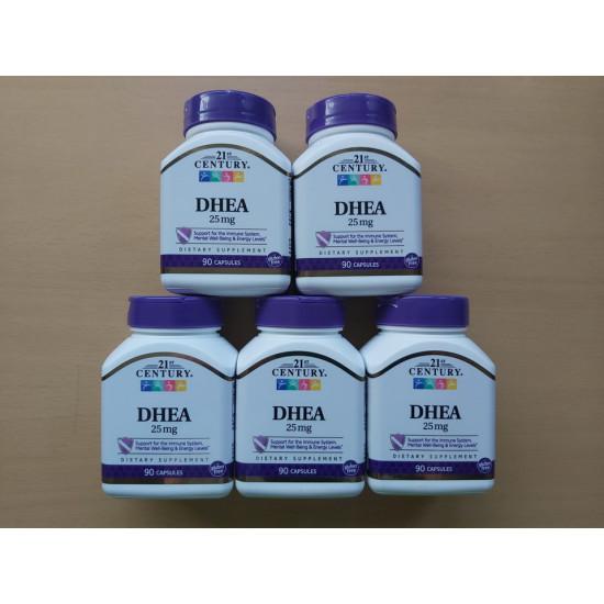 5x DHEA-25 mg, 90 kapszula - 21st. Century